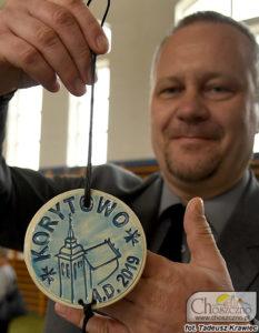 Sławomir Giziński z medalem