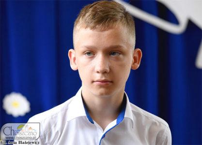 Jakub Bielawski najlepszy uczeń w Zamęcinie