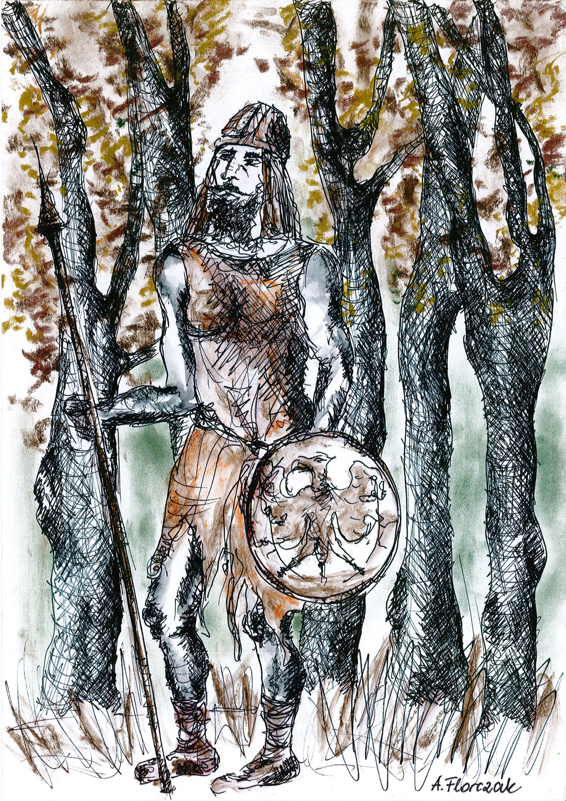 rysuke Choszczna autorstwa A. Florczak